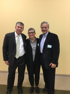 Three retiring Foundation trustees: (l to r) Russ Finestein, Alice Fertig and Sal Caruana. (5/16)